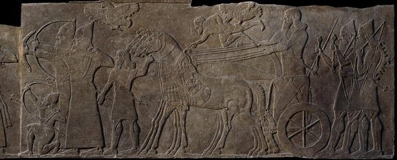 Stone panel from the North-West Palace of Ashurnasirpal II - Nimrud- 883-859 BC.